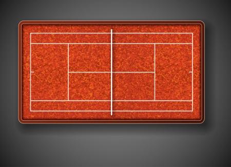 Tennis court on top  Eps 10 Stock Vector - 14646032