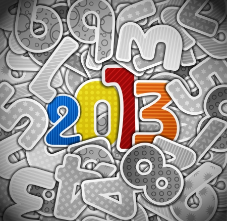 2013 year from a paper Vector