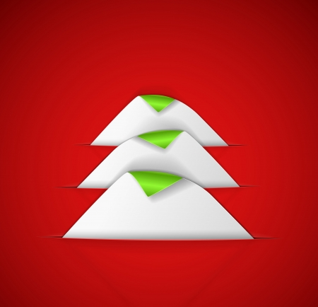 Creative Christmas tree from a paper Vector