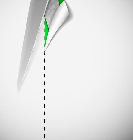 Cut paper with scissors Stock Vector - 15284207