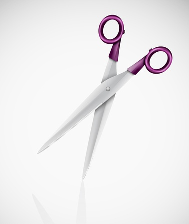 Isolated detailed scissors Stock Vector - 15284205