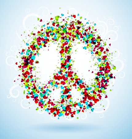 peace and love: Abstract peace sign Illustration
