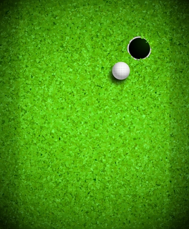 golf hole: Golf ball and hole