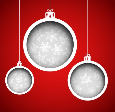Christmas balls  cut the paper Stock Vector - 15284210