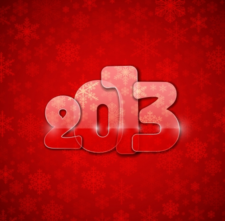 2013 year from glass Stock Vector - 15484059