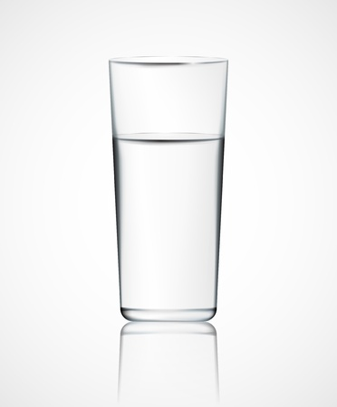 purified: Realistic glass of water Illustration