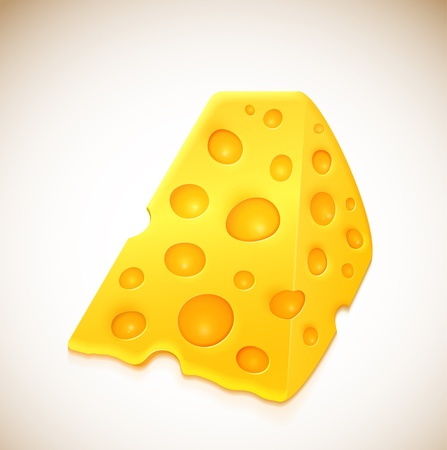Piece of cheese with holes Stock Vector - 15484053