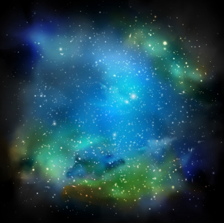 Space with many stars   Vector