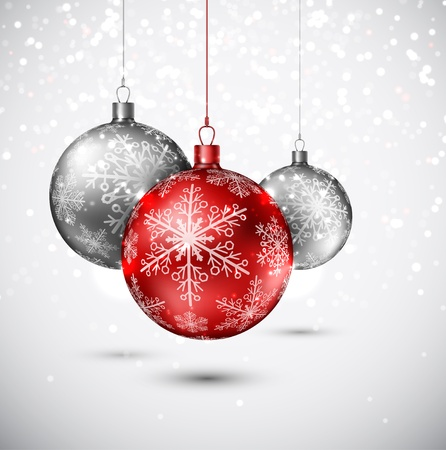 christmas ornaments: Background with Christmas balls
