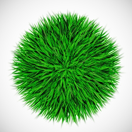 Background with circle of grass   Stock Vector - 16040843