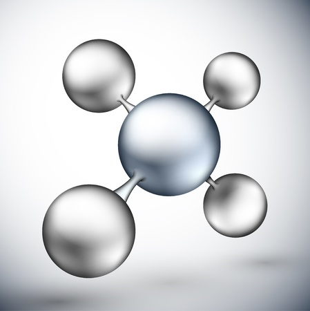 3D molekulare Struktur Eps 10 Illustration