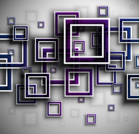 square shape: Background with squares Illustration