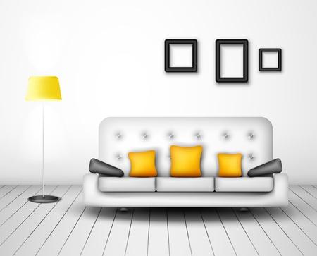 Modern interior design Eps 10