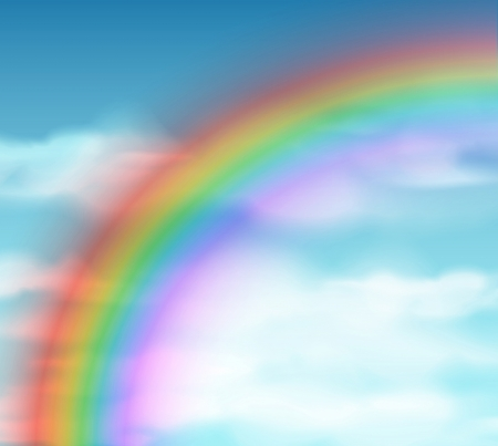 eps 10: Natural background with rainbow  Eps 10