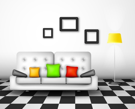 Modern interior home design Stock Vector - 16439963