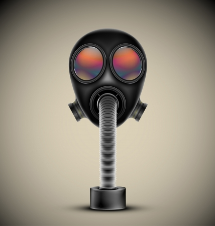 Gas mask, vector  Esp10 Vector