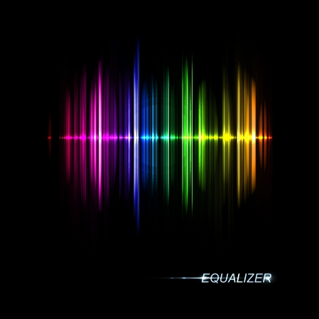 radio: Abstract music equalizer  Eps 10 Illustration