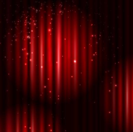 Achtergrond met rode gordijn en lichte Eps 10