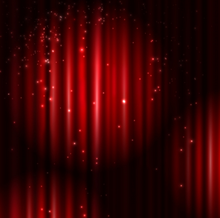 Background with red curtain and light  Eps 10 Vector