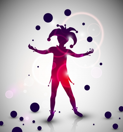 Abstract background with jester juggles   Vector
