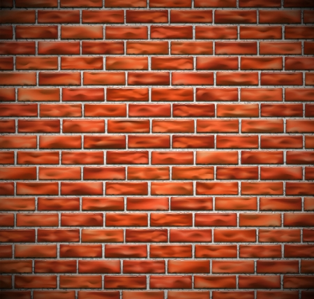 brick background: Red brick wall background  Eps 10