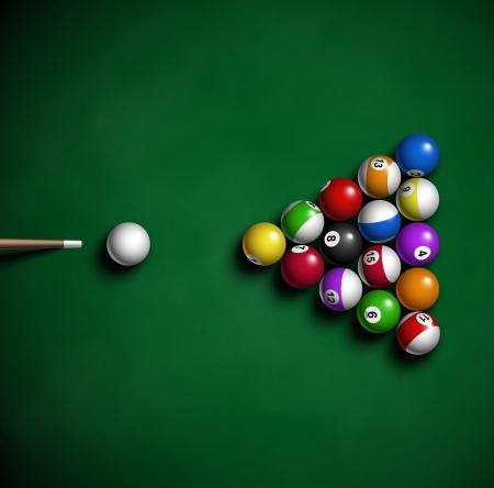 Bolas de billar en la mesa Eps 10