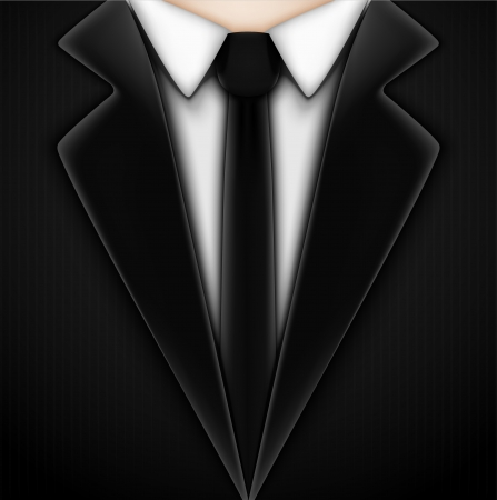dressy: Esmoquin negro con corbata Eps 10