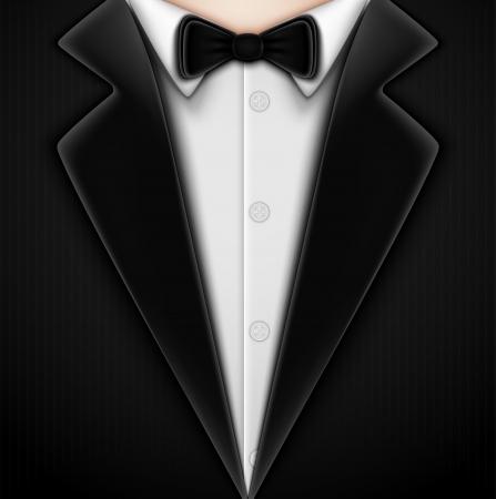 tie tuxedo: Tuxedo with bow tie  Eps 10