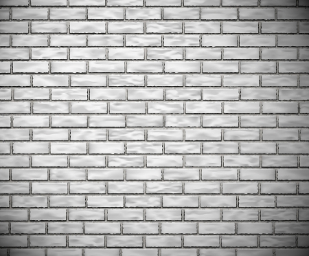 White brick wall background  Eps 10 Stock Vector - 17189464