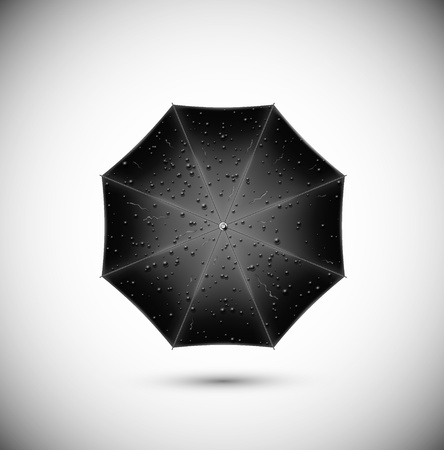 Black umbrella with rain drops  Eps 10 Stock Vector - 17609951