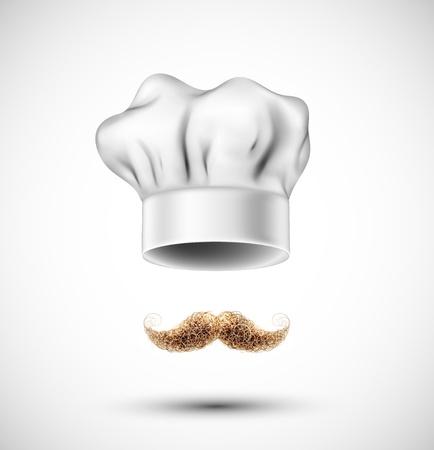 Zubehör Kochmütze und Schnurrbart Eps 10
