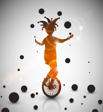 Background with jester juggler Eps 10