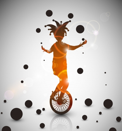 circus bike: Fondo con Eps buf�n malabarista 10
