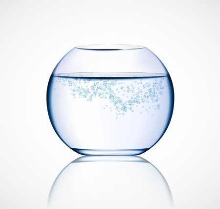 Isolated aquarium with bubbles  Eps 10 Vector
