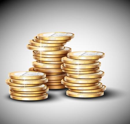 gold coins: Stacks of coins  Eps 10 Illustration