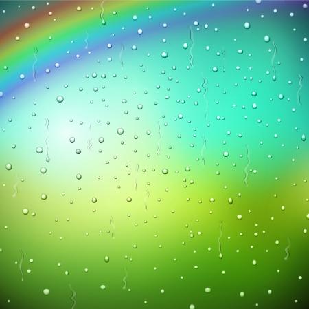 Rain drops on window Stock Vector - 17907565