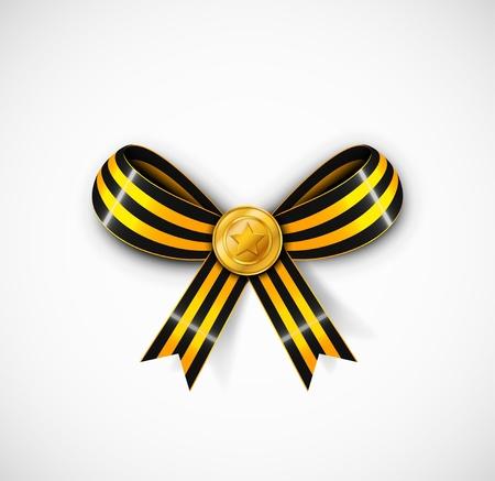 estrellas  de militares: St George cinta con medalla Vectores