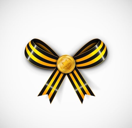 history month: St  George ribbon with medal Illustration