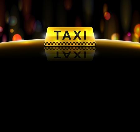 taxi: El servicio de taxi, fondo Vectores