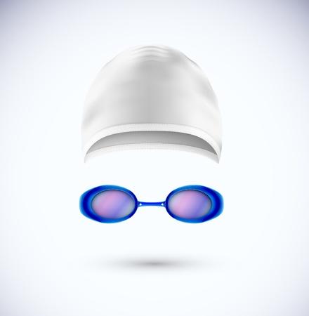 nadar: Accesorios para gorro de ba�o y gafas