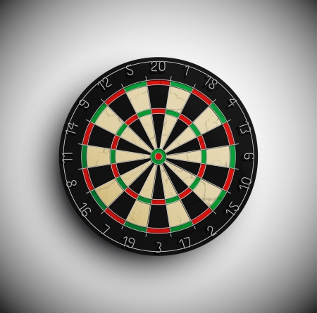darts: Professional darts board  Illustration