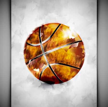 baloncesto: Baloncesto bola en estilo acuarela