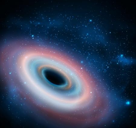 Schwarzes Loch im Universum Vektorgrafik