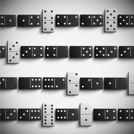 Hra domino pozadí