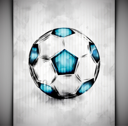 ballon foot: Ballon de soccer dans un style aquarelle Illustration