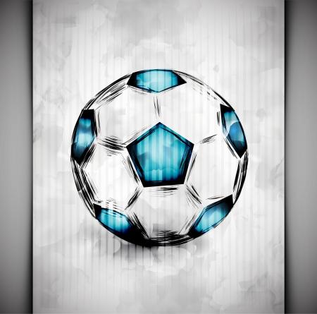 Fotbalový míč ve velkém stylu akvarelu