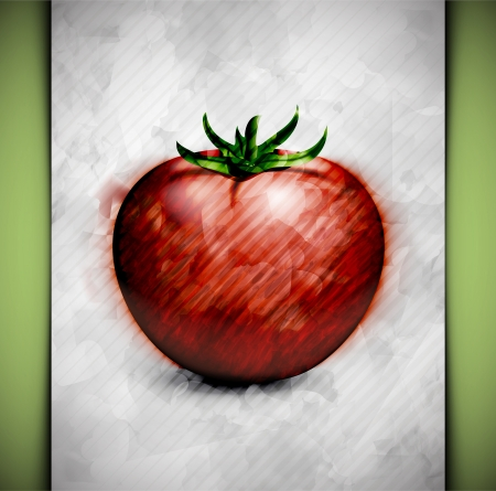 abstract art vegetables: Tomato in watercolor style