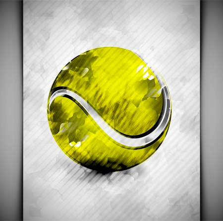 Tennis ball in watercolor style Stock Vector - 18672156