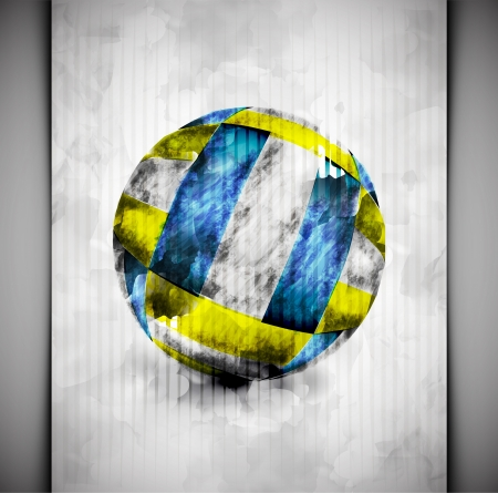 Volleyball ball in watercolor style Stock Vector - 18672178