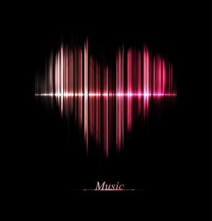 Hudební ekvalizér v podobě srdce EPS 10 Ilustrace